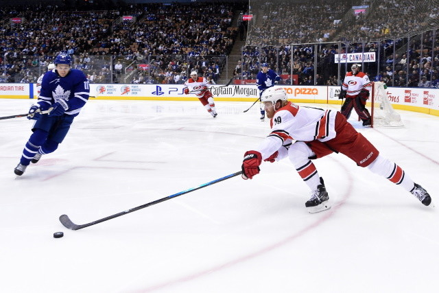 The Toronto Maple Leafs are looking for more depth and scoring upfront. All quiet on the Dougie Hamilton - Carolina Hurricanes extension talks