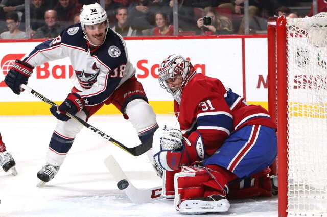 Bowen Byram could return tonight. Boone Jenner could be out with a hand injury. Carey Price not traveling with Canadiens. Tristan Jarry returns.
