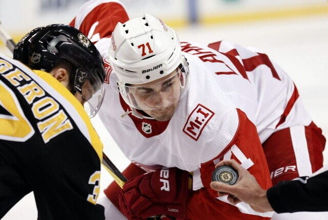 Jakob Silfverberg out 4-6 months. Patrice Bergeron misses last night's game. Dylan Larkin done for the season. Alex Ovechkin day-to-day.