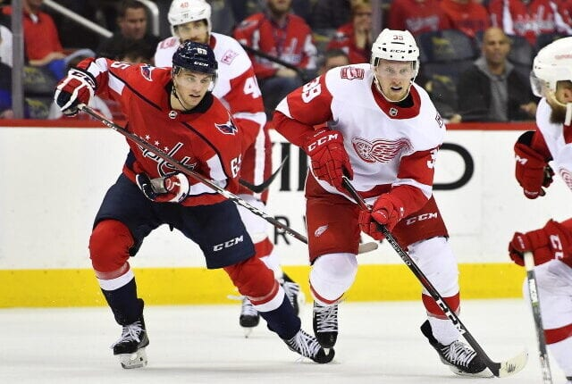The Detroit Red Wings traded forward Anthony Mantha to the Washington Capitals for forwards Richard Panik and Jakub Vrana, a 2021 first-round pick and 2022 second-round pick.