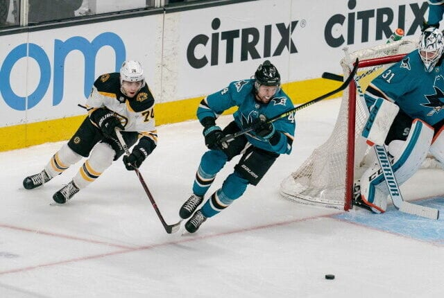 Do the San Jose Sharks consider moving on from two underachieving forwards? Will the Boston Bruins look at trading Jake DeBrusk this offseason?