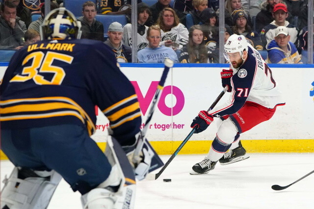 Blue Jackets want a first for Nick Foligno. Avs and Leafs a fit for Janmark? Linus Ullmark - Sabres talking. Scott Laughton - Flyers talking.