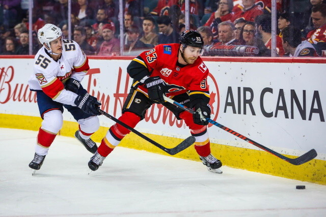 The Calgary Flames have traded forward Sam Bennett to the Florida Panthers for a 2022 second-round pick and 2020 second-round pick Emil Heineman.