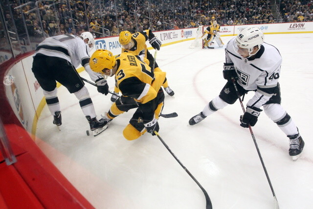 Conditions and notes after the Jeff Carter trade to the Pittsburgh Penguins. Senators activate Colin White. NHL playoff races and odds.