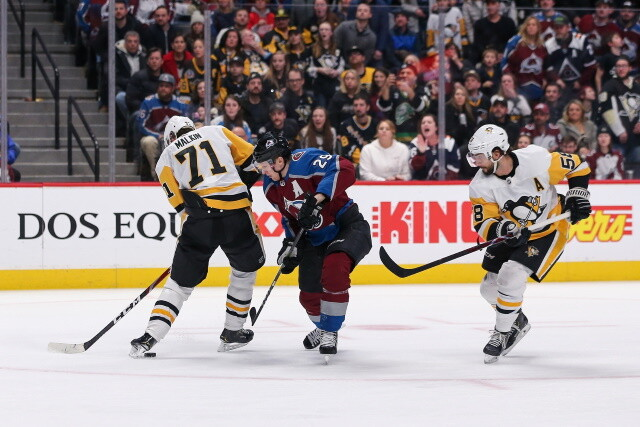 The Colorado Avalanche could get three back on Friday. Evgeni Malkin cleared for full contact. Colton Parayko could be ready tonight.