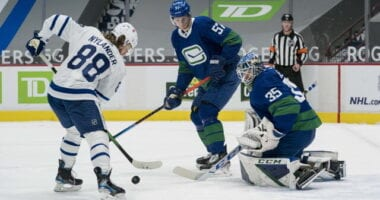 Vancouver Canucks game postposed, new schedule coming today. William Nylander almost out of protocol. Maple Leafs sign Rodion Amirov.