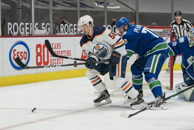 Ken Holland and the Edmonton Oilers try to chart a course to fill some needs before the trade deadline as the Vancouver Canucks try to sell.