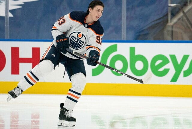 Ryan Nugent-Hopkins didn't like the Oilers offer. Teams immediately called Panthers about Chris Driedger after Spencer Knight signing.