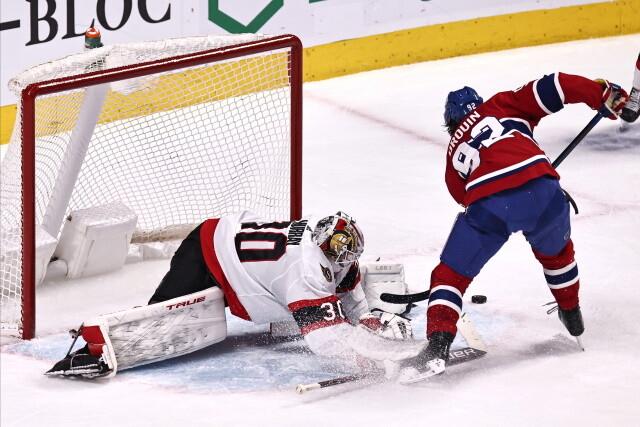 Tyler Seguin not ready for contact yet. Jonathan Drouin not feeling well. Ottawa Senators lose two goalies yesterday. Colton Parayko injured.