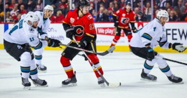 Marc-Edouard Vlasic doesn't plan on going anywhere. Offseason decision for the Calgary Flames. Will Johnny Gaudreau be back?