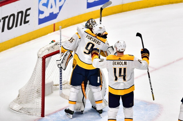 Nashville Predators Filip Forsberg and Mattias Ekholm on the possibility of signing a contract extension. Pekka Rinne undecided on his future.