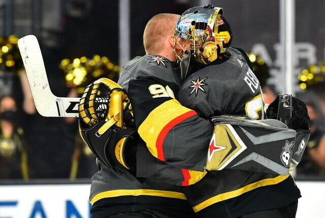 The Vegas Golden Knights enter this offseason with $12 million committed to their goaltenders for next season. Do they keep both or look to move Fleury?