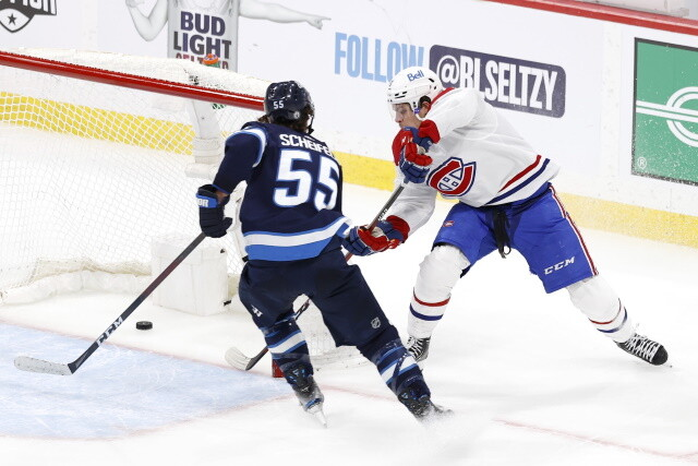 Winnipeg Jets forward Mark Scheifele will be hearing from the NHL department of player safety after his hit on Jake Evans.