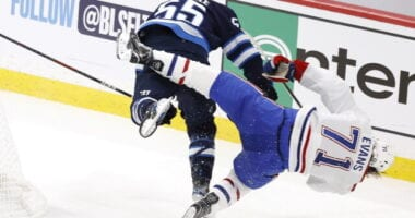 Winnipeg Jets forward Mark Scheifele was suspended for four games for charging Montreal Canadiens forward Jake Evans.