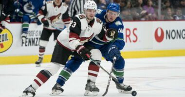 The Arizona Coyotes have traded defesneman Oliver Ekman-Larsson and RFA forward Conor Garland to the Vancouver Canucks for a 2021 first-round pick (No. 9)Jay Beagle, Loui Eriksson, and Antoine Roussel.