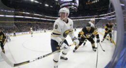 """Sabres GM Kevyn Adams said that they are """"in control the process"""" but Jack Eichel's agents disagree in a statement."""