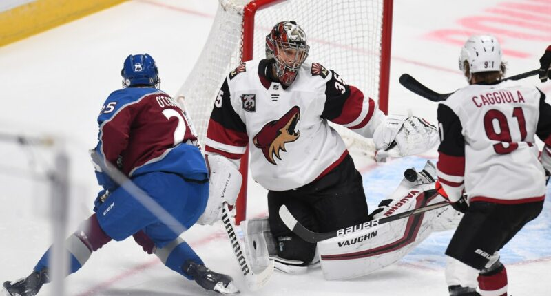 The Arizona Coyotes have traded goaltender Darcy Kuemper to the Colorado Avalanche for a 2022 first-round pick, defenseman Connor Timmins and a condition 2024 3rd round pick.