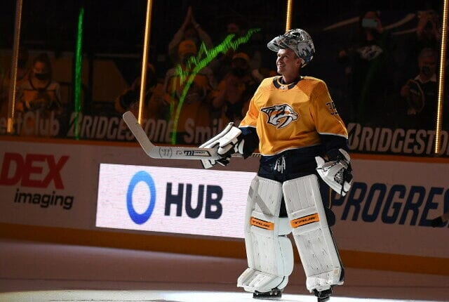 Nashville Predators Pekka Rinne retires. Minnesota Wild GM Bill Guerin on buying out Ryan Suter and Zach Parise. Injured Lightning players.
