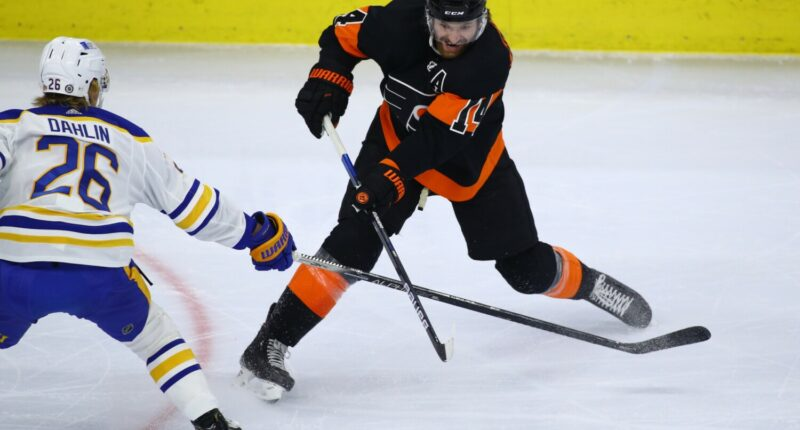The Philadelphia Flyers have signed forward Sean Couturier to an eight-year contract extension.
