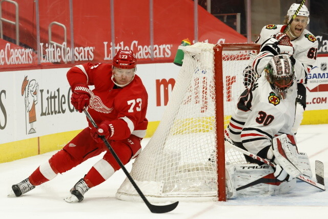 Carolina Hurricanes sign two of their second-round picks. Red Wings sign Adam Erne and Sebastian Cossa. Jets sign their third-round pick.