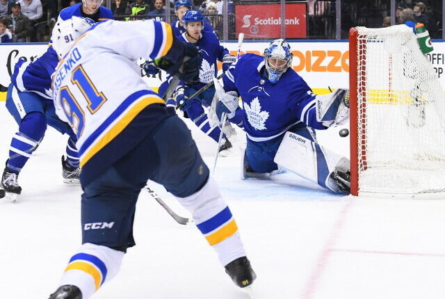 No comment from Ilya Mikheyev's camp on the trade request made after the Toronto Male Leafs season. Limited cap space for the St. Louis Blues