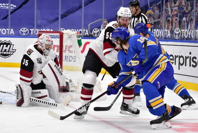 Holland meets with Kailer Yamamoto's agent. Blues still need to re-sign Robert Thomas, and a Coyotes offer sheet would make sense.