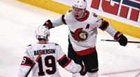 Drake Batherson isn't concerned that he doesn't have a contract with the Ottawa Senators but Brady Tkachuk is somewhat frustrated.