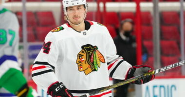 The Chicago Blackhawks prospect pool has some promising talent but is not one of the deepest. It is closer to the bottom than the top.